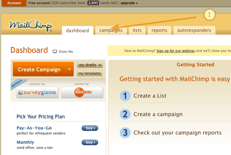 how to create a campaign in mailchimp