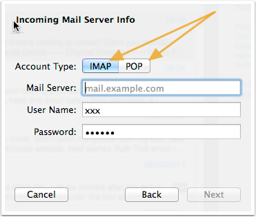 connecting to your mail box using imap or pop3